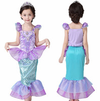 Wholesale kids christmas pageant costume - Cute Summer Girls Dress Girls Kids Bling Princess Pageant Party Long Tail Maxi Dress Costume Cosplay Clothes