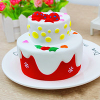 Wholesale big animals photos online - Squishy Bread Squeeze Toy Squishies Birthday Cake Venting Toys Children Gifts Photography Take Photo Prop rf W