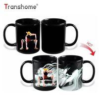Wholesale tray for tea - Transhome Luffy Color Changing  Change Porcelain Mug Heat Sensitive Mug Ceramic Mug For Coffee Tea Milk Holiday Gift