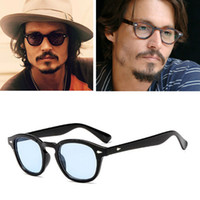 Wholesale spectacles frame styles resale online - 2018 Johnny Depp Style Glasses Men Retro Vintage Prescription Glasses Women Optical Spectacle Frame Clear lens zonnebril mannen