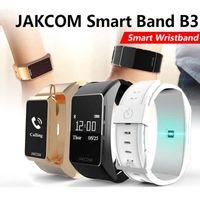 Wholesale golden earphones - Jakcom B3 smart wristbands Smart Watchs bracelet with bluetooth earphone function Sleeping heart rate monitor bracelet with retail box