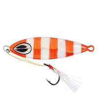 Wholesale Vertical Jigs - 40g Rigged lead jigs Fishing Flat Fall Vertical Trolling Jig with Assist Hooks