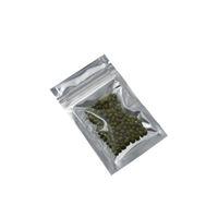 Wholesale poly foil bags for sale - 200pcs cm Small Zip Lock Front Clear Plastic Aluminum Foil Food Packing Bag Resealable Zipper Ziplock Mylar Foil Poly Bag