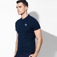 kore erkek gömlekler toptan satış-Paul kısa kollu polo gömlek erkek yakışıklı ince yaz Kore versiyonu yeni casual yaka beyaz T-shirt yaz giymek