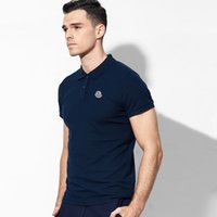 koreanische sommerhemden großhandel-Paul Kurzarm-Polo-Shirt Männer koreanische Version des stattlichen dünnen Sommer neuen Casual Revers weißen T-Shirt Sommer tragen