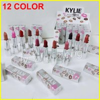 Wholesale Red Hot Holidays - Kylie jenner silver series lipstick 12 Color Kylie Lipsticks holiday matte Lipsticks Lovesick Valentine infatuation Red Hot lips Makeup
