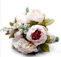 hermoso ramo de flores azules al por mayor-Regalos de Navidad, regalos de boda, estilos creativos, novias, damas de honor, flores.