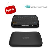 Wholesale mini laptop windows resale online - Mini H18 Wireless Keyboard G Portable Keyboard With Touchpad Mouse for Android Google Smart TV Linux Windows Mac