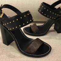 Wholesale new style fashion lady shoes - Thick with women's shoes New fashion products Lady's Leather Sandals New European classic luxury style ladies leather sandals leather decor