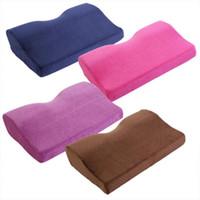 подушка для автомобильного воздуха оптовых-1PC New Butterfly Shaped Travel Pillow Car Air Flight Inflatable Pillows Neck Support Headrest Cushion Soft Nursing Cushion