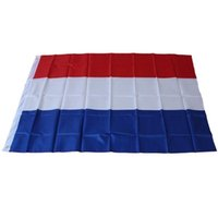 Wholesale High Quality Folding Dutch National Flags Festival The World Cup Netherlands Polyester Flag Tricolor Decor Articles New qtb aa