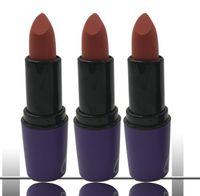 Wholesale purple lipstick colors online - 12 colors Brand Matte Lipstick Cosmetics Lip Matte Makeup Lip Gloss Waterproof Long Lasting Purple Tube Lipsticks