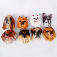 figura imanes de nevera al por mayor-26 Unids / lote Lindo de la Historieta Husky Bulldog Imán de Nevera para Niños Educación Temprana Pegatinas Magnéticas para Mascotas de Perro Para la Figura de Resina de Nevera Pegatina proveedores