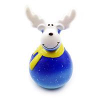 natal squishy venda por atacado-Xmas Simulação cervos alces Squishy lenta rebote de Natal Squeeze brinquedos PU Decompression Toy encantos dos desenhos animados Kawaii C5108