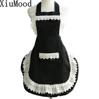 Wholesale chefs aprons for women resale online - Xiumood Fashion Cotton Lace Aprons For Women Kitchen Chef Cooking Apro