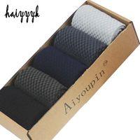 дезодорант оптовых-New Bamboo Fiber Men Socks Classic Deodorant Business  Crew Socks Men High Quality Casual Compression 5pairs NO BOX