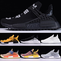 Wholesale Womens Blue Snow Boots - 2018 Designer Pharrell Trail Running shoes Williams Mens Womens Run Sneaker Black White Yellow Red Nerd Fashion Sports Sneakers size 36-47
