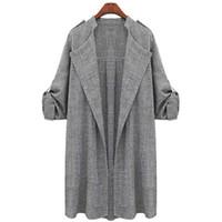 yeni kadın ön açık hırka toptan satış-Yeni Moda Sonbahar Bahar Kadın Açık Ön Ceket Uzun Pelerin Ceketler Palto Şelale Hırka Kadın Blusas