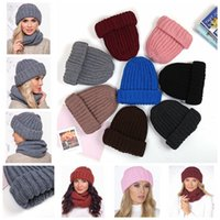 Wholesale ladies fashion hats for sale - 7styles Knitted winter solid hat women warm hat ladies caps outdoor fashion thick crochet beanies wool knitted cap xmas gift FFA1221