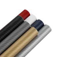 3m karbon fiber toptan satış-127 cm x 15 cm 3D 3 M Oto Karbon Fiber Vinil Film Karbon Araba Wrap Sac Rulo Film Kağıdı Motosiklet Araba Çıkartmaları Çıkartması Araba Styling