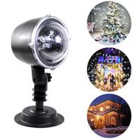 hareketli lazer projektör toptan satış-Kar yağışı Projektör IP64 Hareketli Kar Sahne etkisi ışık Ev Lazer Kar Tanesi Projektör Lambası Noel Yeni Yıl Partisi Düğün
