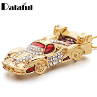 Wholesale roadsters cars - Unique Sports Car Roadster Key Chains Holder Enamel Blue Red Rhinestone Bag Pendant Keyrings KeyChains For Women Men K279