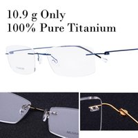 5d1a5fbe4b7 10.9 g Only 100% Real Titanium Rimless Prescription Glasses Frame Women  Eyeglasses Myopia Optical Oculos De Grau Gafas New 2017