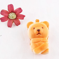 pão integral venda por atacado-Kawaii Bonito Animal Squishies Urso Pão Macio Jumbo Lento Rising Squishy Scented Toy Kid Presente Azul Marrom 2 3sq BR