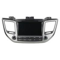 radio gps hyundai ix35 al por mayor-Reproductor de DVD del coche para HYUNDAI TUCSON IX35 8 pulgadas Andriod 8.0 Octa core con GPS, control del volante, Bluetooth