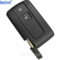 Wholesale toyota corolla verso - OkeyTech 2 Buttons Car Key Case Shell Fob For Toyota PRIUS 2004-2009 COROLLA VERSO Camry Replacement Smart Key Card with Blade