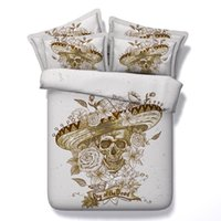 Wholesale skull bedding for sale - Group buy top quality sugar skull Duvet Cover cool Bedding Sets Human skeleton Bedspreads Holiday Quilt Covers Bed Linen Pillow Covers comforter cover