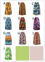 Wholesale high fashion clubwear - 2018 10 colors African Women Boho Dashiki Dresses Cocktail Clubwear high waist Pleated Skirt National characteristic Maxi Dress