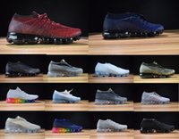 Wholesale Real True - with box Rainbow VaporMax 2018 BE TRUE Men Woman Shock Running Shoes For Real Quality Fashion Men Casual VaporMaxes Sports Sneakers