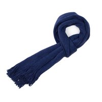 Wholesale male cashmere scarf - Male Scarves Winter Lmitation Cashmere Men's Scarf Shawl Solid New Student Knitting Warm Cape Navy Tassel Scarf Luxury Brand