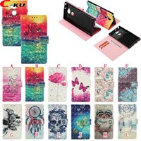 Wholesale bling blades resale online - 3D Bling Leather Wallet Case For NOKIA Plus Sony Xperia XA2 Ultra ZTE Blade V9 Dreamcatcher Flower Skull Owl Sea Butterfly Cover