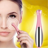 massage facial pen NZ - Beauty Care Microcurrent Eye Massage Device Pen Type Electric Eye Massager Facial Vibration Thin Face Magic Stick Anti Bag Pouch & Wrinkle