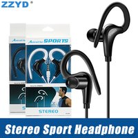 Wholesale sports mp3 online - ZZYD mm Sport Earphone Bass Music Headset Stereo handsfree Eer Hook With Mic Earbuds MP3 Running Headset for Samsung S8 Note