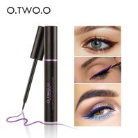 Wholesale Ultimate Blue - O.TWO.O Blue Color Liquid Eyeliner Easy to Wear Ultimate Waterproof Long Lasting Eye Liner Party Eyes Makeup