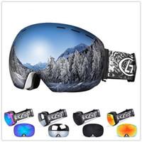 anti uv maskesi toptan satış-Anti-sis ile UV Koruma Kar Araci Kayak Pateni Maskesi ile Mounchain Unisex Kış Kar Sporları Snowboard Gözlüğü