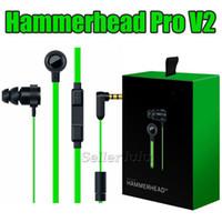 en kaliteli stereo kulaklık toptan satış-En iyi kalite Hammerhead Pro V2 oyunu Kulaklık kulak kulaklık Mikrofon Ile Perakende Kutusu Ile Kulak Gürültü İzolasyonu Stereo Bas 3.5mm