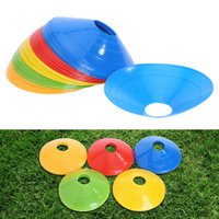 Wholesale coned stock - 19cm Cones Marker Discs Soccer Football Training Dish Pressure Resistant Sports Entertainment Accessories Outdoor Sport Game Toys
