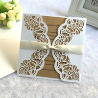 ingrosso decorazioni farfalle marrone-Carta di inserto in bianco marrone con inserto di decorazione farfalla in bianco per il matrimonio esterno