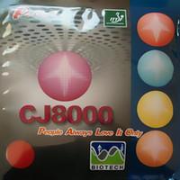 hrt tenis de mesa al por mayor-Original Palio CJ8000 (BIOTECH) 2-Side Loop Type pips-en tenis de mesa / pingpong de goma con esponja (H36-38)
