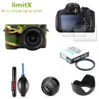 tampa do filtro de ar venda por atacado-Full Protect Kit Protetor de Tela Da Câmera caso Filtro UV Lenspen Cap Lenspen Air Blower para Sony Alpha A6000 A6300 16-50mm lens
