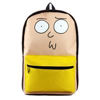 ejderha çantası toptan satış-Rick ve Morty Karikatür Sırt Çantası Dragon Ball Seyahat Çantası TEK PARÇA Cosplay Hediye için Yüksek Kaliteli Çanta
