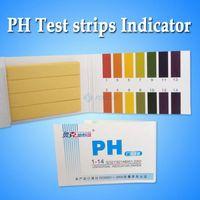 ph papel de tornasol al por mayor-Venta al por mayor-50Pack / LOT 80 medidores de pH PH Tiras reactivas Tiras reactivas indicadoras 1-14 Papel Litmus Tester Orina Saliva Envío gratis