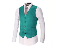 Wholesale mens vest wholesale - 2018 Mens Vests green Wasitcoat One Piece