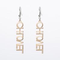 8fce83b82fad Letra de amor Hollow Earring Metal Girl Girl Pendientes de moda Calidad  Craft Drop Earrings Regalos de Navidad Joyería para mujer Día de San  Valentín Gi