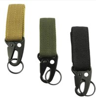 Wholesale Survival Backpacks - Hot! Men Outdoor Camping Tactical Carabiner Backpack Hooks Olecranon Molle Hook Survival Gear EDC Military Nylon Keychain Clasp