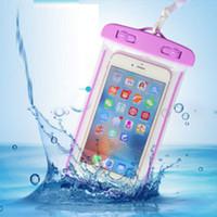 iphone akıllı cep telefonu toptan satış-Evrensel iphone 7 6 6 s artı samsung s9 s7 için su geçirmez kılıf çanta cep telefonu su geçirmez kuru çanta için akıllı telefon kadar 5.8 inç diyagonal